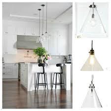 Kitchen Glass Pendant Lighting Kitchens Glass Cone Shaped Pendant Glass Pendant Lights Kitchen