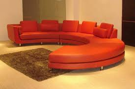 Round Sofa Bed by Roller Espresso Leather Sectional Round Sofa S3net Sectional
