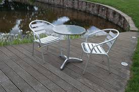 Ebay Garden Table And Chairs Aluminium Lightweight Chrome Bistro Sets Table Chair Patio Garden
