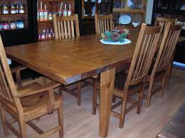 simple pine dining room table taylor custom furniture heart s in