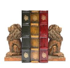 lion bookends lion bookends and antique books stock photo image of office