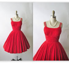 vintage 1950 u0027s red velvet cocktail party holiday christmas dress