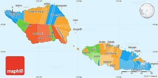 map samoa political simple map of samoa
