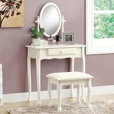 Bedroom Vanity Sets Monarch Vanity Set 2pcs Set Antique White Walmart Com
