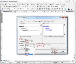 cara membuat daftar gambar word cara membuat daftar isi otomatis dengan ms word 2003 anita s