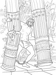 samson coloring pages free coloring pages inside samson and