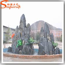 customize any type of outdoor water fountains artificial rock