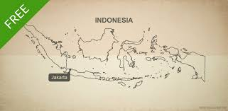 Indonesia World Map by Free Vector Map Of Indonesia Outline One Stop Map