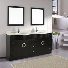 stylish modern black and white double sink bathroom vanities