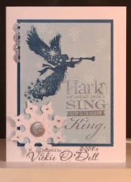 heartful stamper hark the herald angels sing christmas card