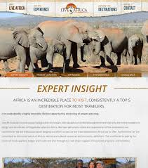 luxury travel web design live africa website