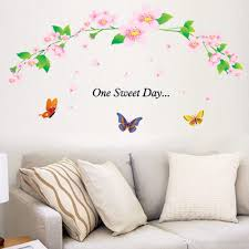 one sweet day pink cherry blossom tree wall decor stickers decal one sweet day pink cherry blossom tree wall decor stickers decal flower floral wall stickers with butterfly wall art paper murals decal art decal art for