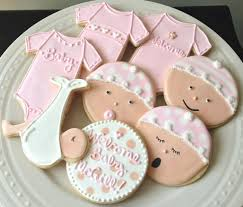 baby shower cookies decorated personalized baby shower cookies girl onesies and baby