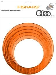 amazon com fiskars circle shape template set large 12 49107097