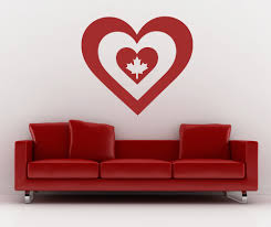 compare prices on wall murals canada online shopping buy low canada maple leaf wall decal heart shape canadian flag vinyl stickers bedroom living room applicable home