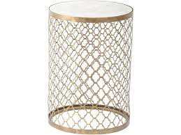 Quatrefoil Side Table By Product Tables Highclere Antique Gold Finish Side Table