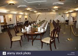 the state dining room inside the royal yacht britannia edinburgh
