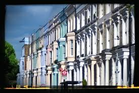 row homes colorful row homes of notting hill picture of portobello road