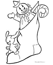 printables christmas stocking coloring pages