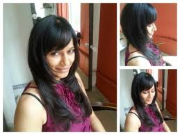 feather cut hairstyles pictures cute feather cut with fringe for indian face indian hairstyles