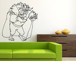 popular beast wall decal buy cheap beast wall decal lots from feed birds beast wall stickers home sweet home vinyl kids room poster beauty and the beast