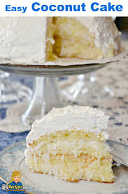 easy coconut cake with 5 simple ingredients