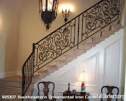Iron Banister Rails Wrought Iron Stair Railing Metalworkers Org