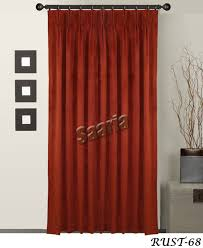 Home Theater Blackout Curtains Pinch Platedpinch Pleated Rust 68 Jpg