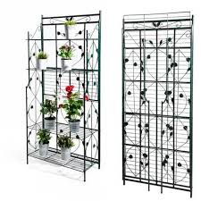 scaffale da esterno serra scaffale pieghevole da giardino in metallo e pvc bertozzi