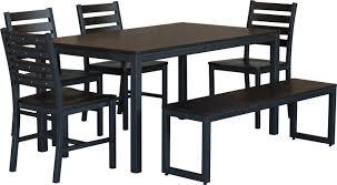 elan furniture loft 6 piece dining set u0026 reviews wayfair