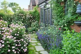 superb flagstone walkways for english cottage garden design using