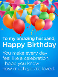 to my all happy birthday wishes card for husband birthday