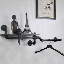 Decorative Wall Shelves For Bathroom 1pc Industrial Pipe Wall Shelf Decorative Wall Hanging Metal