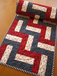 quilted table runner patriotic and blue table runners