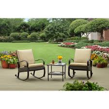 3 Piece Patio Set Better Homes And Gardens Olive Creek 3 Piece Woven Rocker Outdoor