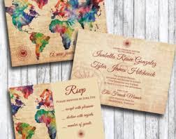 theme wedding invitations travel themed wedding invitations cloveranddot