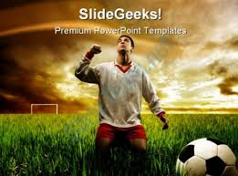 football with flames sports powerpoint templates and powerpoint