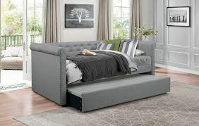 homelegance edmund button tufted upholstered daybed with trundle