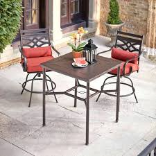 Balcony Bistro Set Patio Furniture Counter Height Bistro Set Outdoor Coral Coast South Isle All