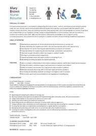 Resume Examples Format by Nurse Resume Example Cv Resume Ideas
