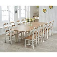Large Extending Dining Table Petal Painted Oak Furniture Large Extending Dining Table 270cm
