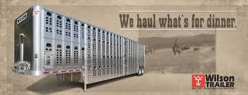 grain livestock flatbed gooseneck wilson trailer