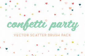 confetti party scatter brushes confetti party is a pack of