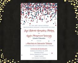 qty 25 spanish college graduation invitations announcements