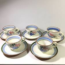 stangl pottery fruit and flowers 5 stangl pottery fruit and flowers cups and saucers signed ebay