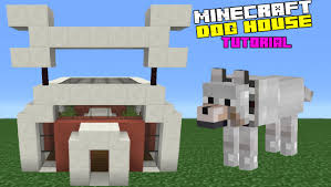 Doghouse For Large Dogs Minecraft Tutorial How To Make A Dog House Youtube