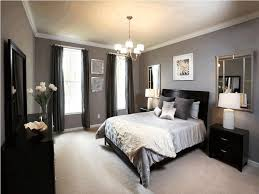 simple classic black and white bedroom interior four sides wall in