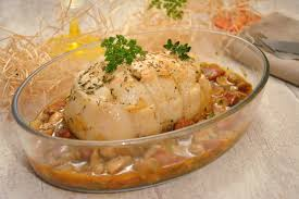 cuisiner une dinde rôti de dinde sauce chorizo chignons au fil du thym