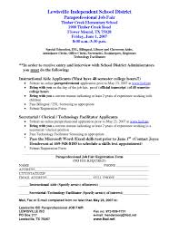 Job Fair Cover Letter by Special Education Paraprofessional Cover Letter Sample