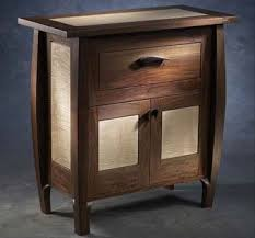 Walnut Wine Cabinet Brian Hubel Hubel Handcrafted Colorado Springs Co